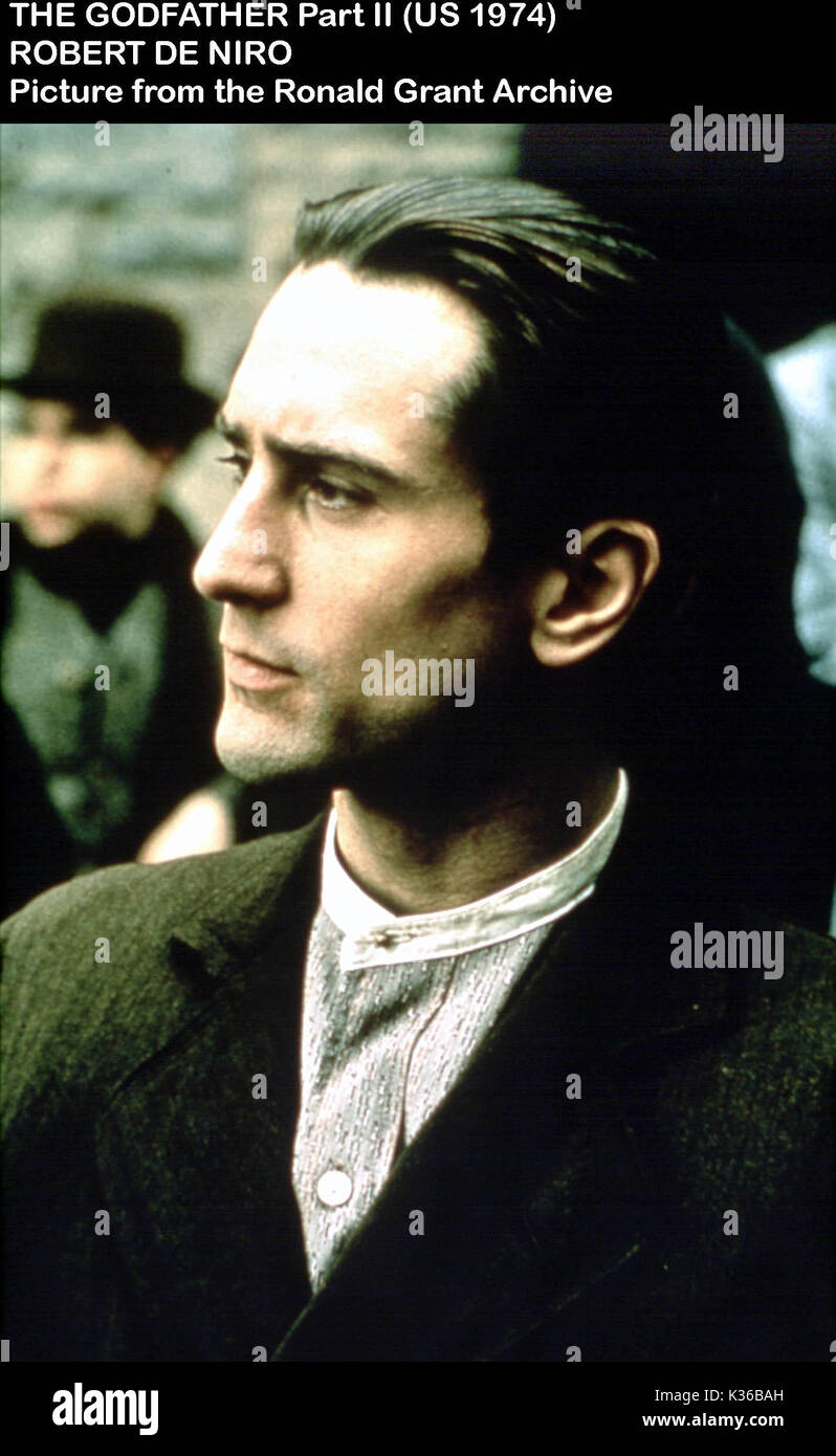 THE GODFATHER PART 2 ROBERT DE NIRO Date: 1974 Stock Photo - Alamy