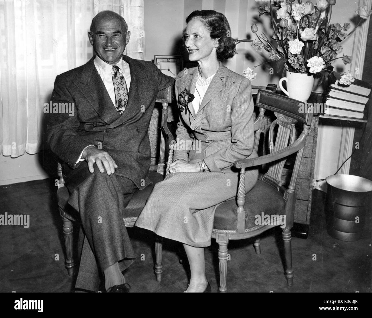 SAAM AND FRANCES GOLDWYN - Stock Image