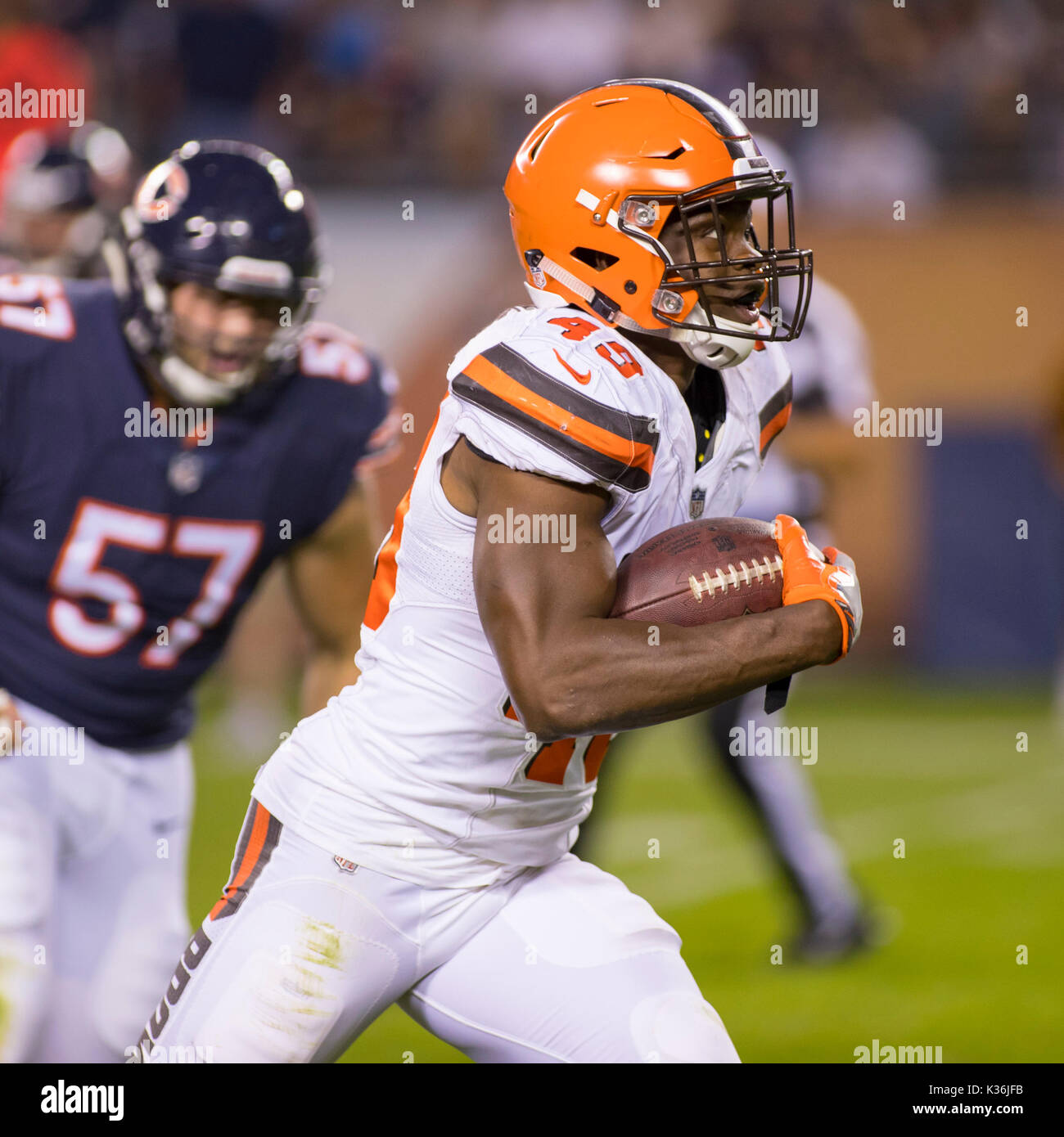 sports shoes b7b4d aed8c August 31, 2017: Chicago, Illinois, U.S. - Browns #49 ...