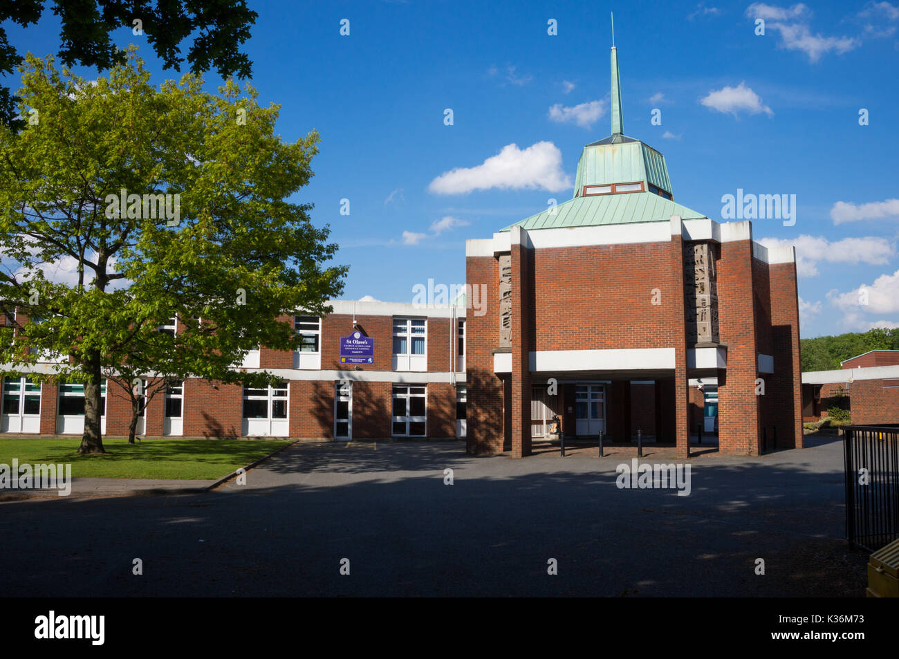 St Olave's Church of England Grammar School, involved in A-level scandal whereby some pupils were prevented from continuing their studies - Stock Image