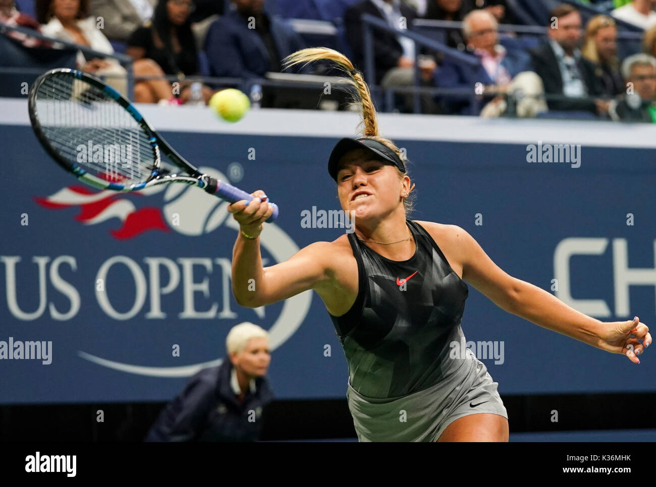 New York Usa 1st Sep 2017 Sofia Kenin Of The United States Hits A Stock Photo Alamy