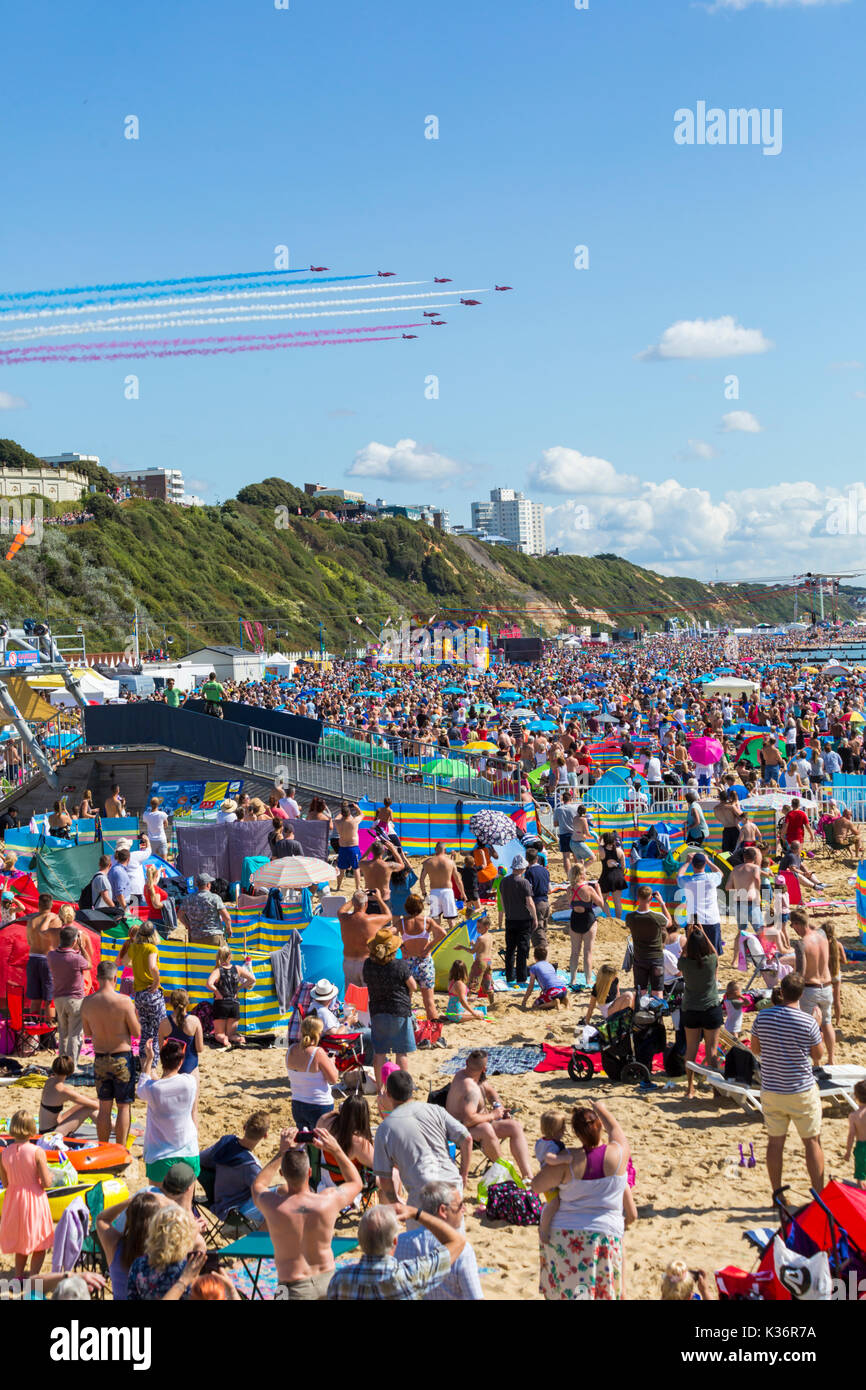 Bournemouth, Dorset UK. 2nd Sep, 2017. The third day of the tenth anniversary of the Bournemouth Air Festival with Stock Photo