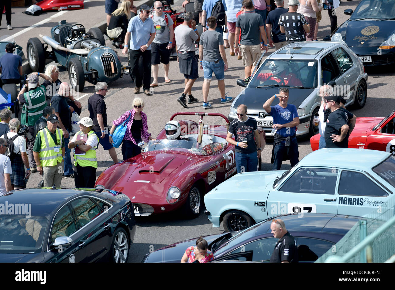 Motoring Along Stock Photos Images Alamy Circuit Map For Bromyard Speed Festival The Brighton Trials Watched By Large