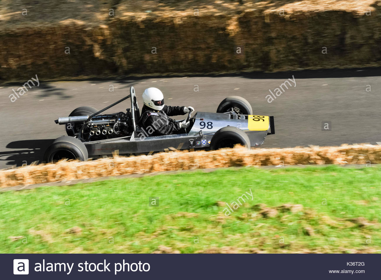 Bo'ness, UK. 2 September, 2017.   William Millard in the Fisher Monocoque during the Bo'ness Speed Hill Climb.   Classic cars from before WW1 up to 1973  competed in the 10th Revival Meeting. Credit: Roger Gaisford/Alamy Live News. - Stock Image