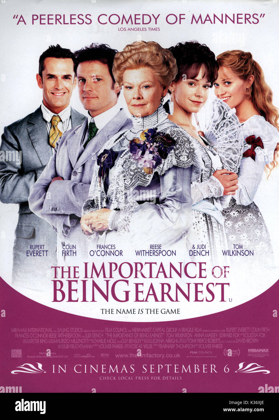 THE IMPORTANCE OF BEING EARNEST MIRAMAX/EALING STUDIOS     Date: 2002 - Stock Image
