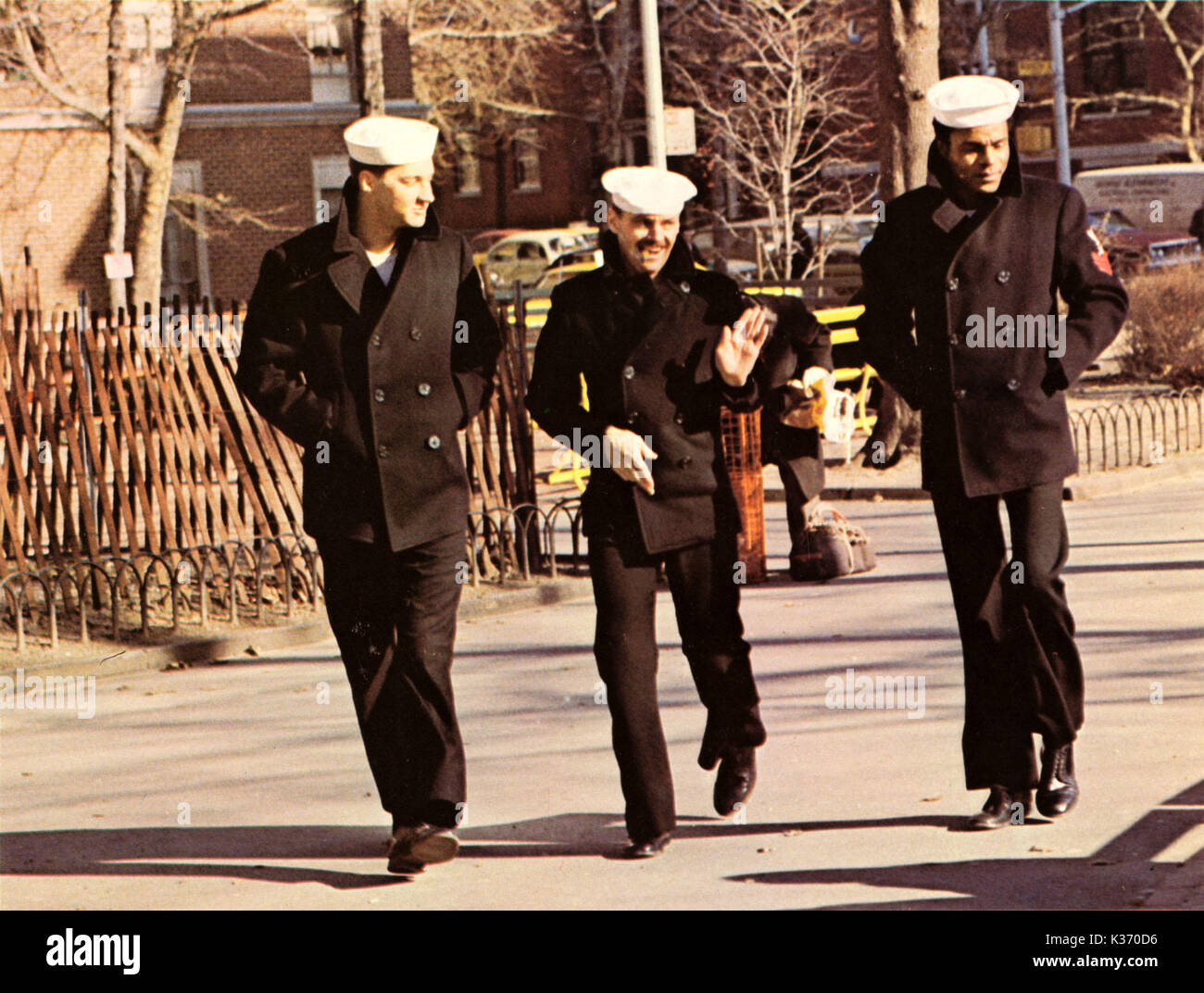 THE LAST DETAIL COLUMBIA PICTURES RANDY QUAID, JACK NICHOLSON, OTIS YOUNG     Date: 1973 - Stock Image