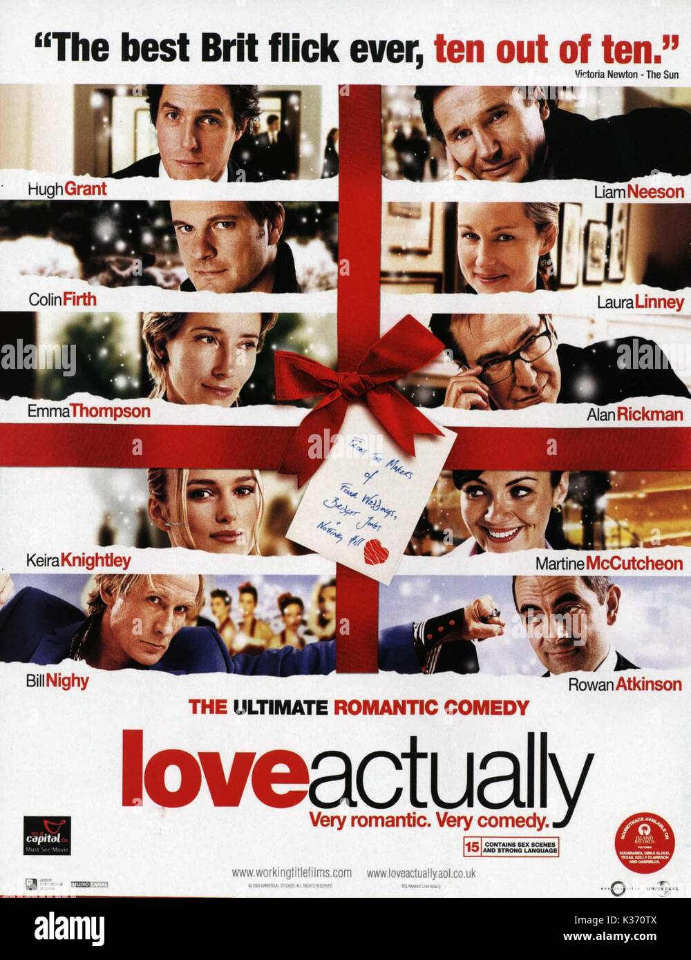 LOVE ACTUALLY      Date: 2003 - Stock Image