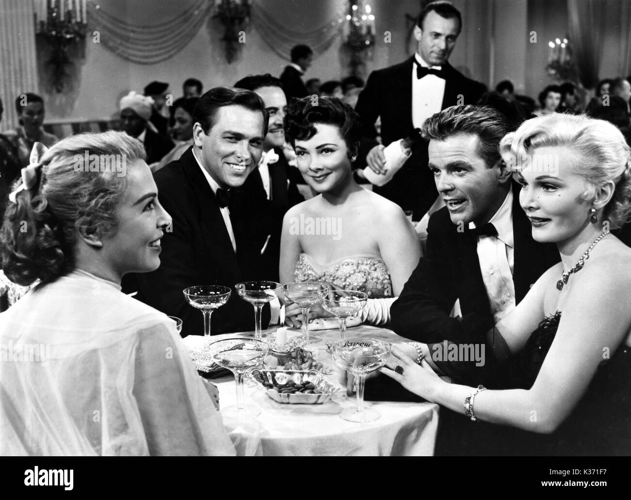 LOVELY TO LOOK AT L-R Marge Champion, Howard Keel, Kathryn Grayson, Gower Champion and Zsa Zsa Gabor - Stock Image