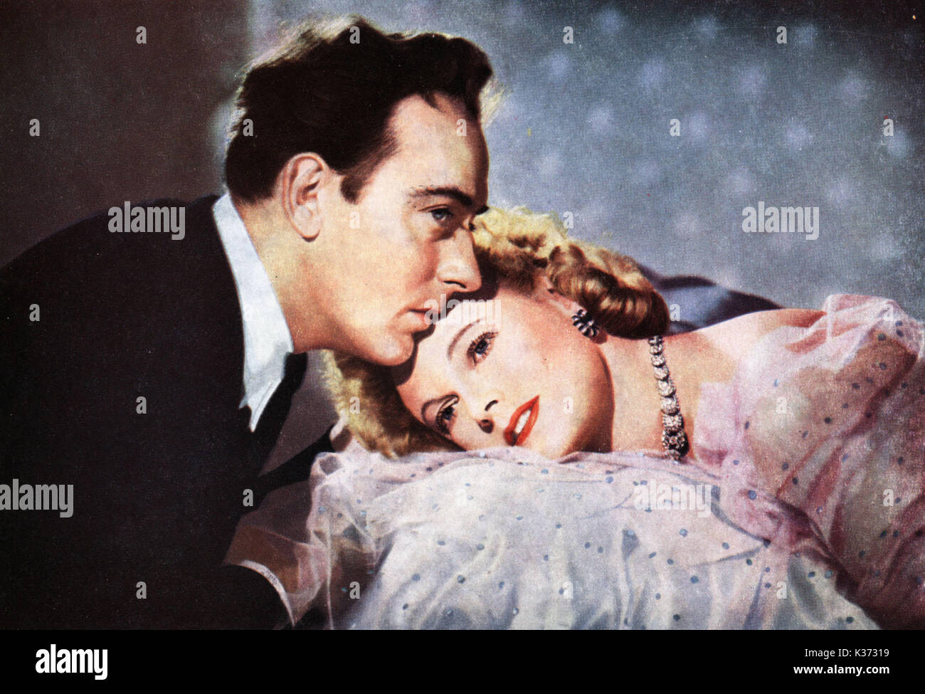 MAYTIME IN MAYFAIR MICHAEL WILDING AND ANNA NEAGLE A HERBERT WILCOX PRODUCTION     Date: 1949 - Stock Image