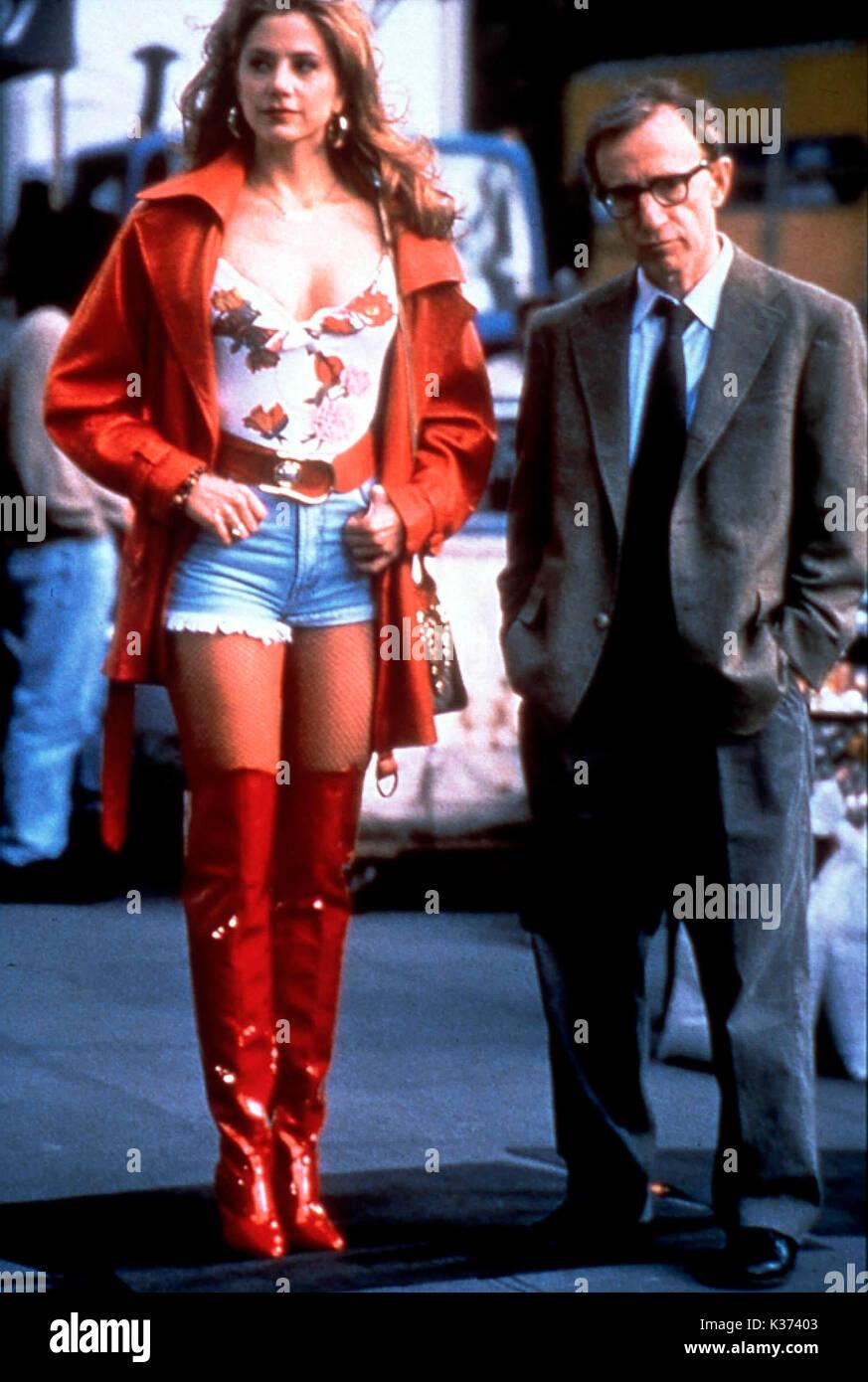 MIGHTY APHRODITE MIRA SORVINO, WOODY ALLEN     Date: 1995 - Stock Image