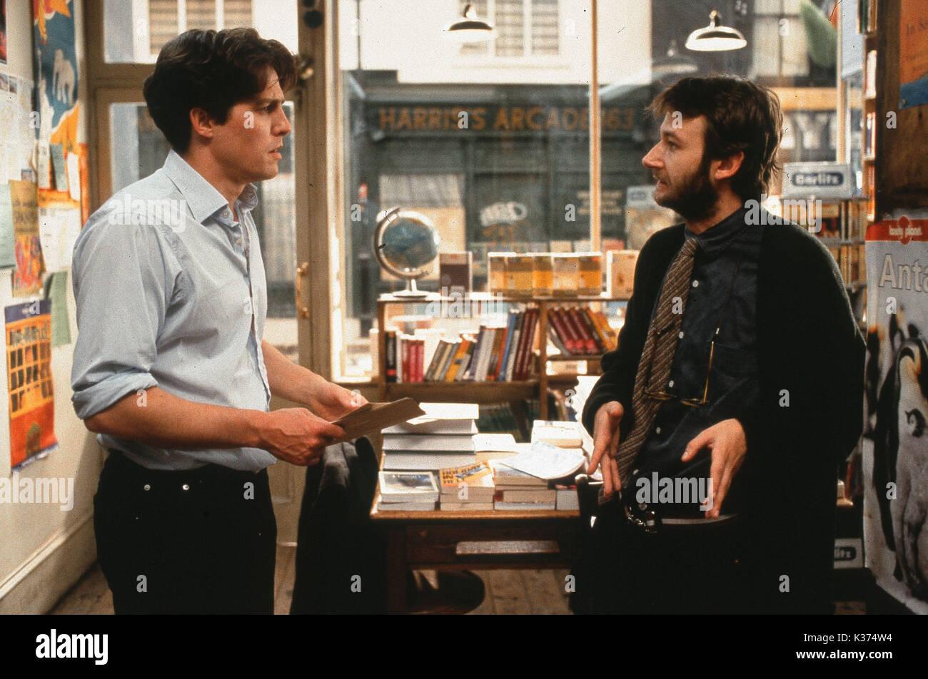 NOTTING HILL L-R, HUGH GRANT, JAMES DREYFUS A WORKING TITLE FILM - Stock Image