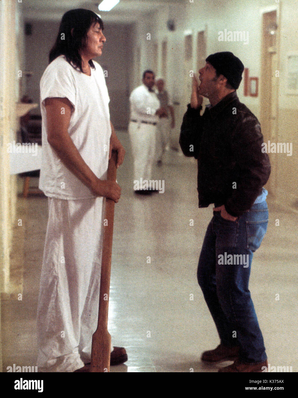 ONE FLEW OVER THE CUCKOO'S NEST (US1975) JACK NICHOLSON, WILL SAMPSON     Date: 1975 - Stock Image