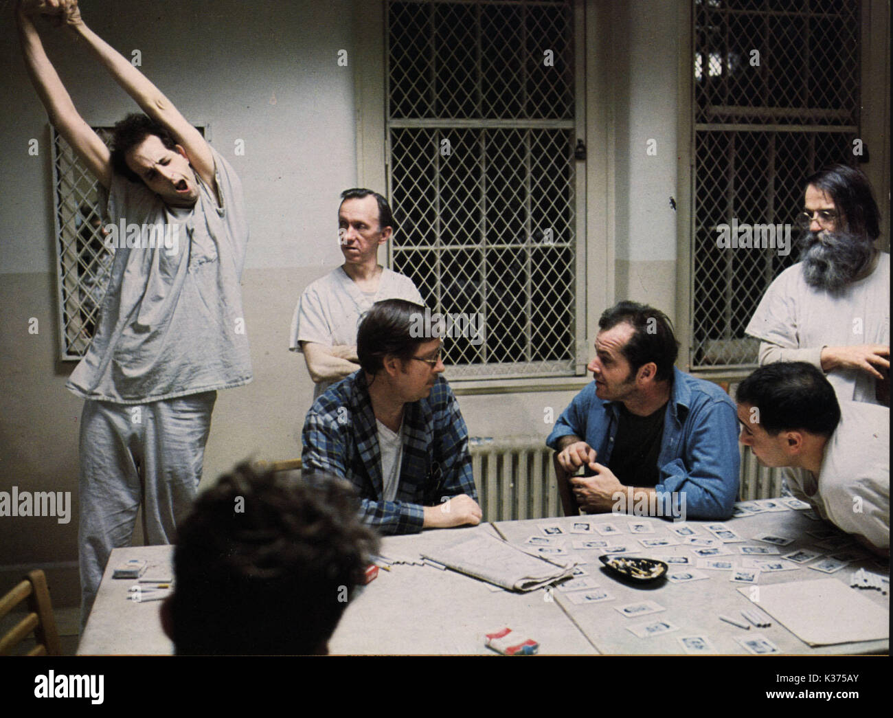ONE FLEW OVER THE CUCKOO'S NEST COPYRIGHT: UNITED ARTISTS 0034213.JPG ONE FLEW OVER THE CUCKOO'S NEST COPYRIGHT: UNITED ARTISTS 0034214.JPG ONE FLEW OVER THE CUCKOO'S NEST (US1975) JACK NICHOLSON, LOUISE FLETCHER     Date: 1975 - Stock Image