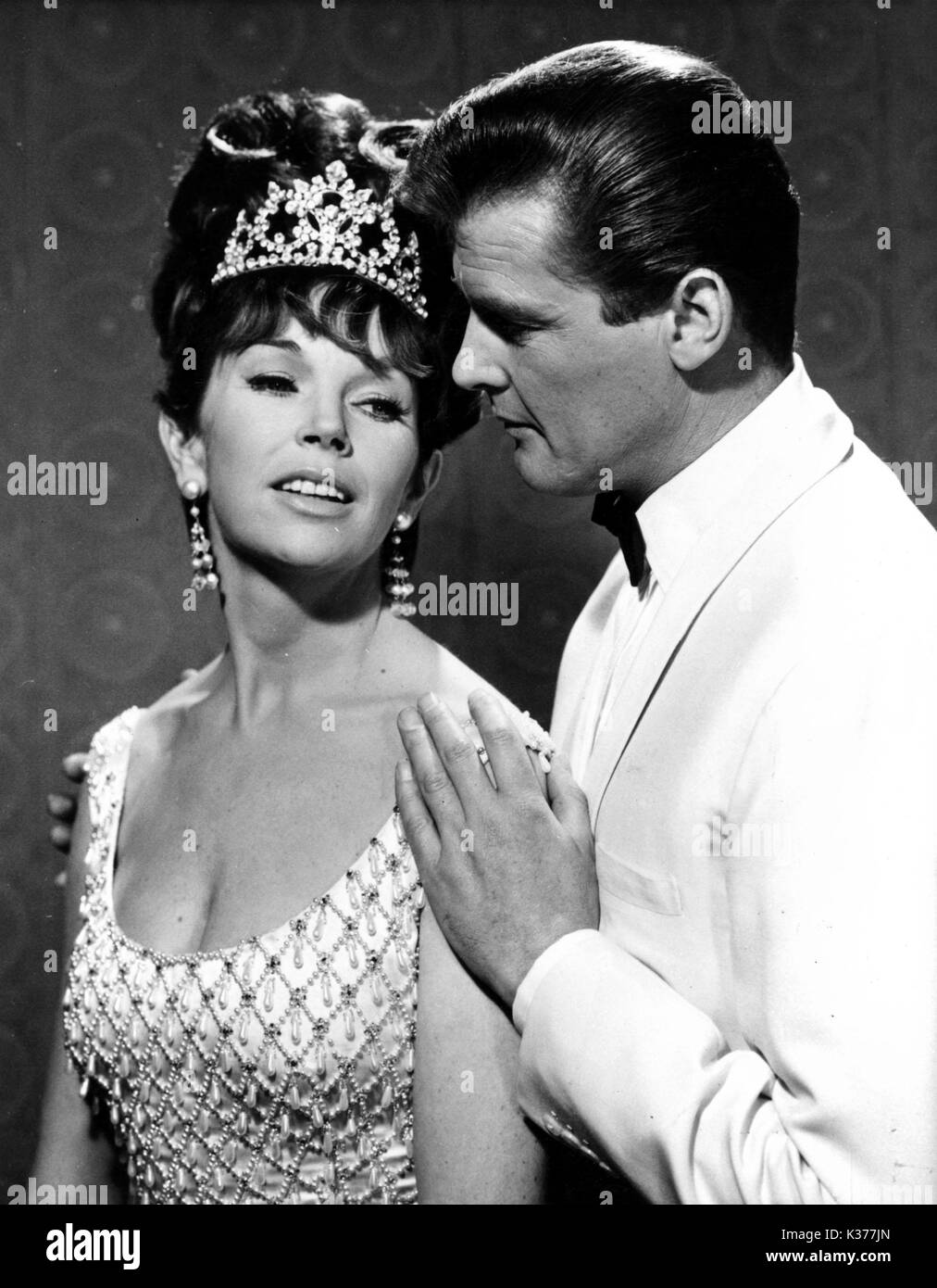THE SAINT DAWN ADAMS, ROGER MOORE - Stock Image