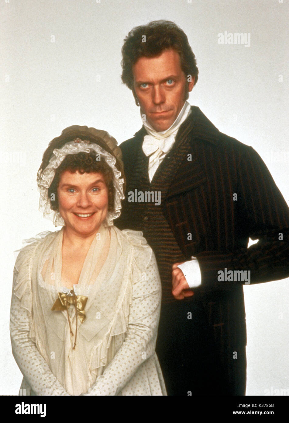 SENSE AND SENSIBILITY IMELDA STAUNTON AS CHARLOTTE PALMER HUGH LAURIE AS MR PALMER     Date: 1995 - Stock Image