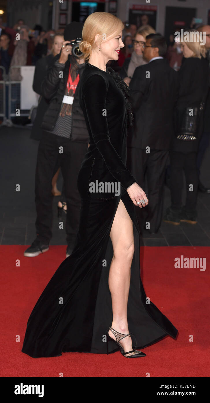 Photo Must Be Credited ©Alpha Press 079965 12/10/2016 Nicole Kidman at the Lion American Express Gala screening during the 60th BFI London Film Festival at Odeon Leicester Square in London. - Stock Image