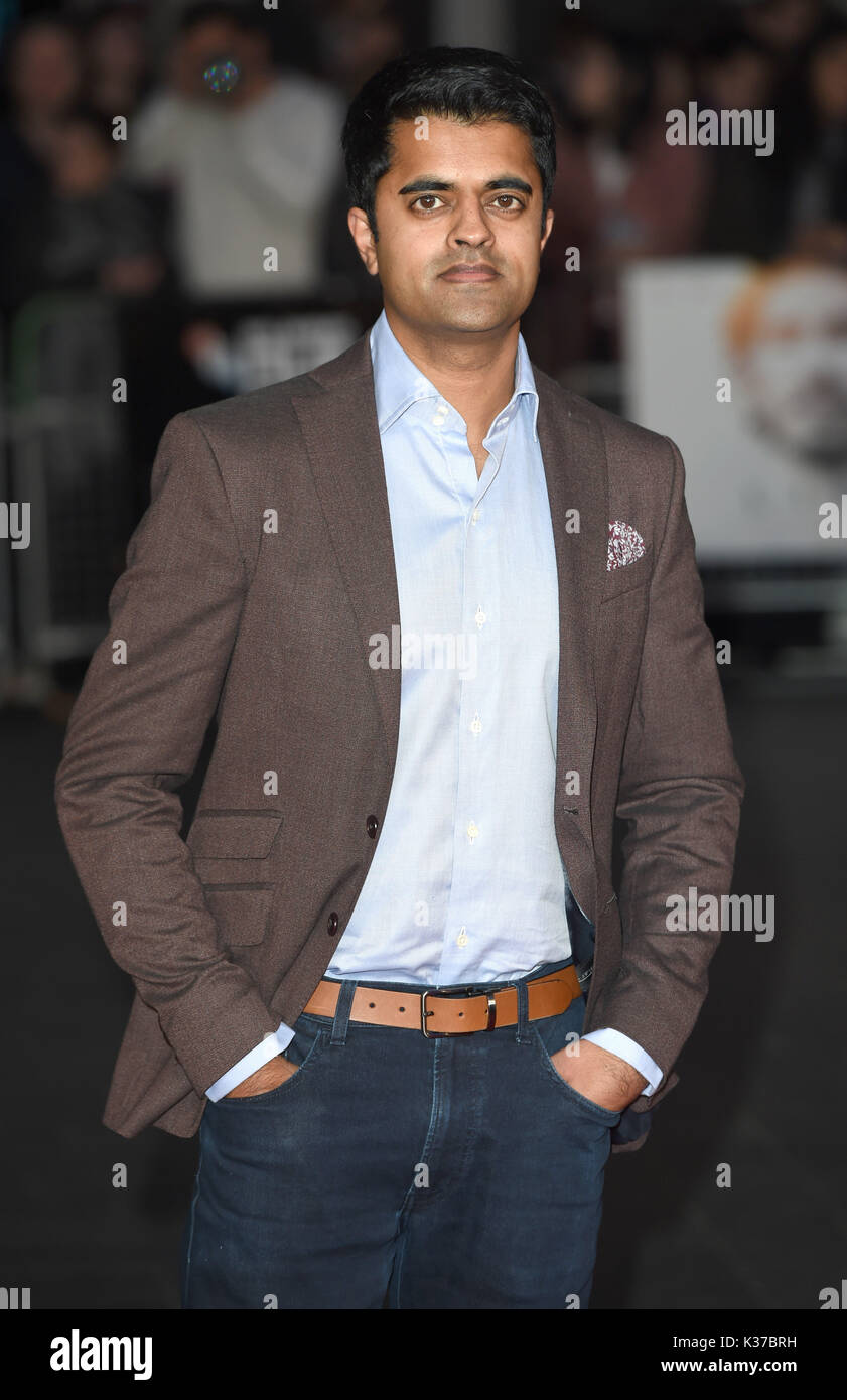 Photo Must Be Credited ©Alpha Press 079965 12/10/2016 Divian Ladwa at the Lion American Express Gala screening during the 60th BFI London Film Festival at Odeon Leicester Square in London. - Stock Image