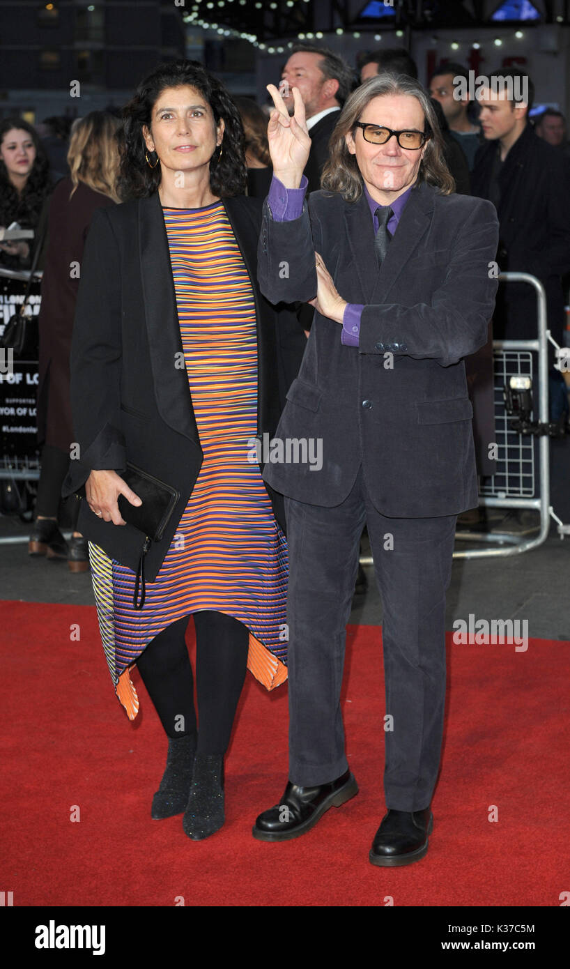 Photo Must Be Credited ©Alpha Press 079965 13/10/2016 Stephen Woolley and Amanda Posey  Their Finest Screening during the BFI London Film Festival 2016 at Odeon Leicester Square London - Stock Image