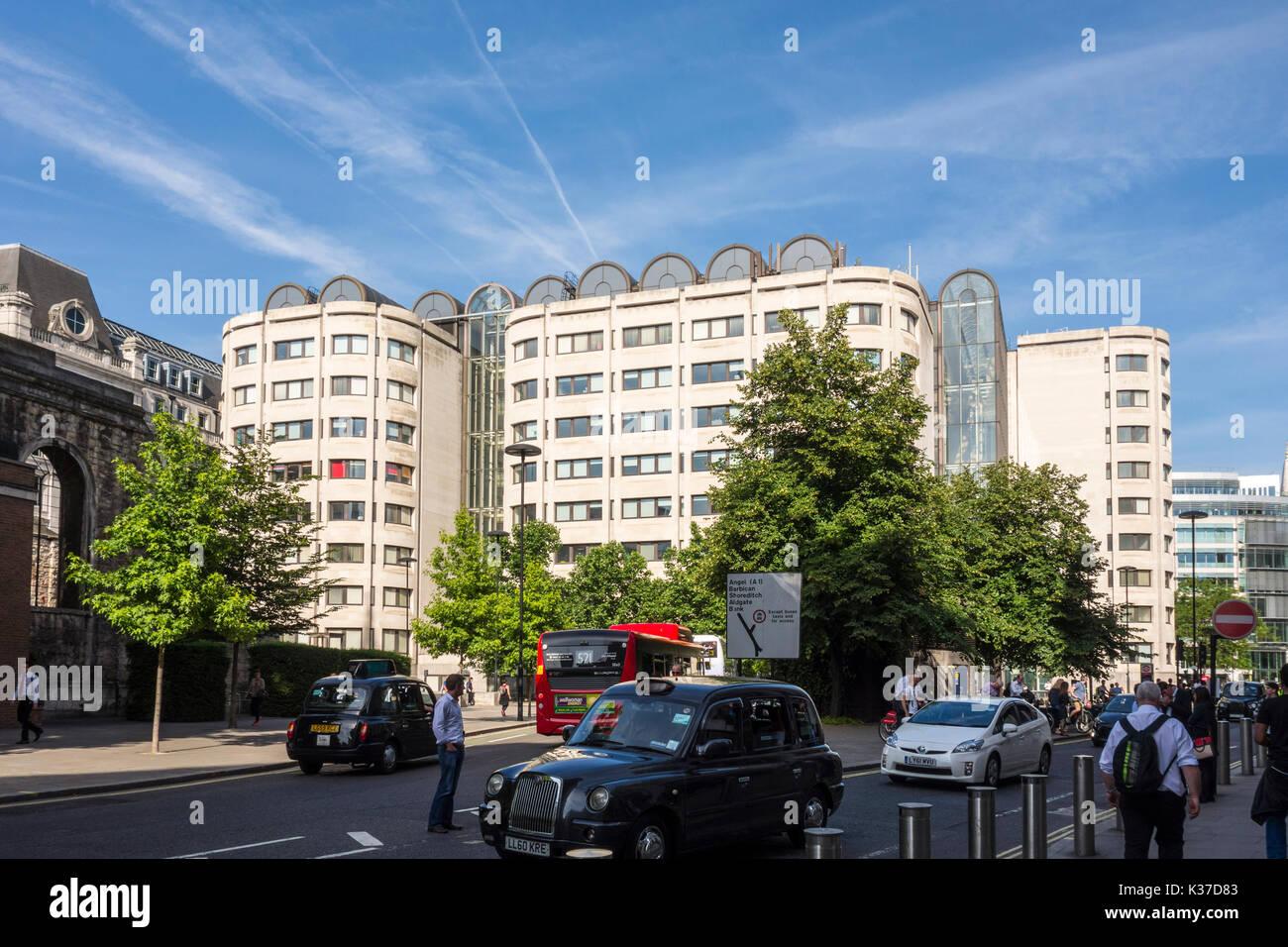 BT Centre, global headquarters of BT Group (British Telecom). 81 Newgate Street, City of London, UK - Stock Image
