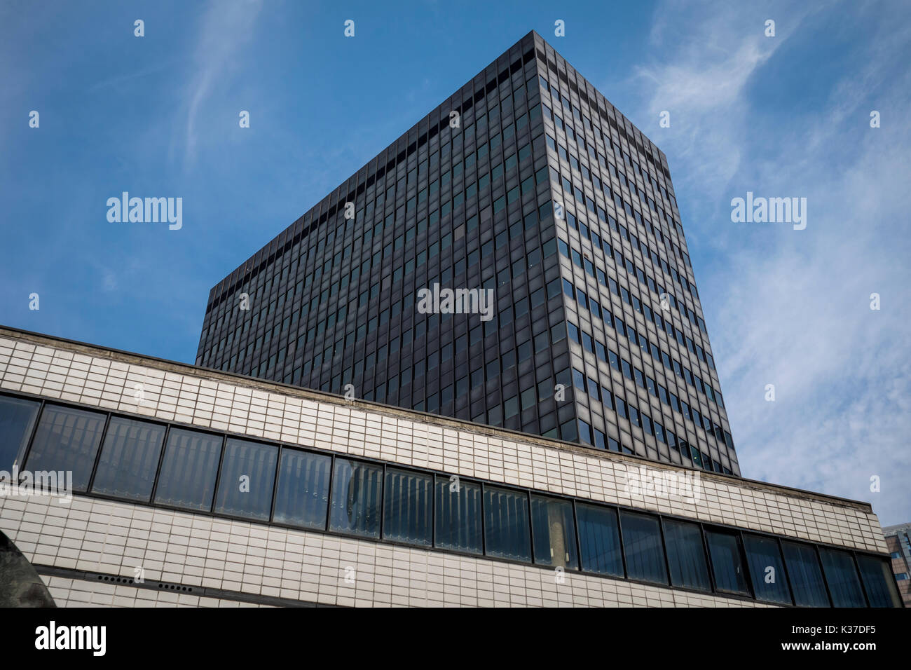 140 London Wall. International style high rise tower office block in the City of London, UK - Stock Image