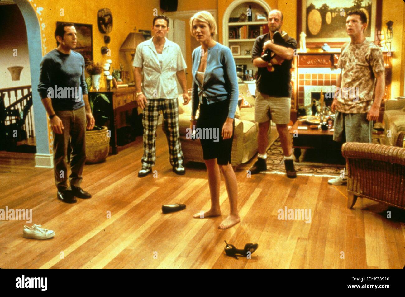 THERE'S SOMETHING ABOUT MARY (US 1998) C20TH FOX BEN STILLER, MATT DILLON, CAMERON DIAZ, CHRIS ELLIOTT, LEE EVANS     Date: 1998 - Stock Image