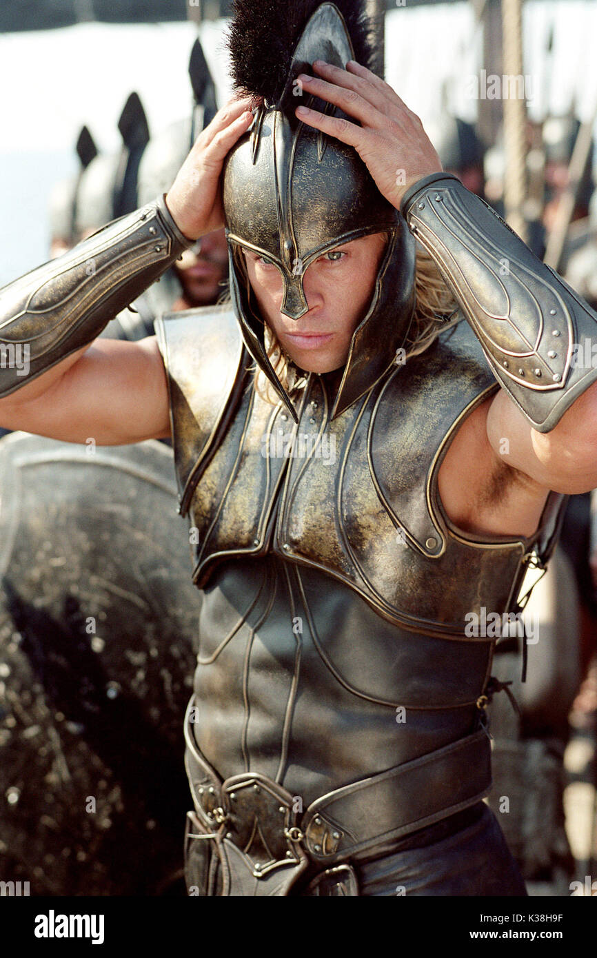 Brad Pitt Stars As Achilles In Warner Bros Pictures Epic Action Stock Photo Alamy