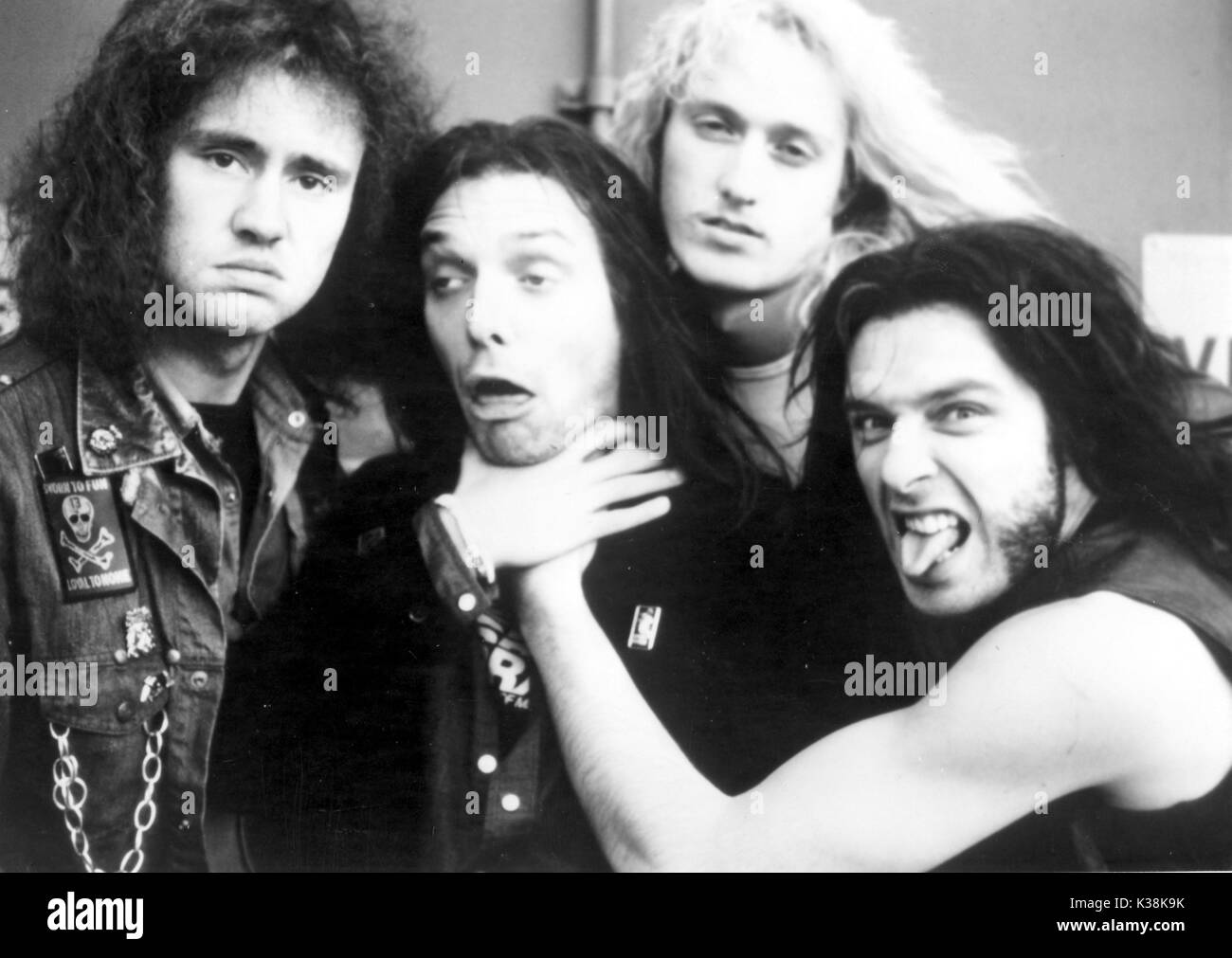 COMIC STRIP PRESENTS...BAD NEWS TOUR NIGEL PLANER, RIK MAYALL, ADRIAN EDMONSON AND ? - Stock Image