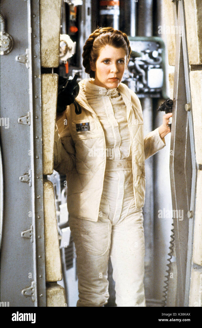 STAR WARS: EPISODE V - THE EMPIRE STRIKES BACK CARRIE FISHER as Princess Leia STAR WARS: EPISODE V - THE EMPIRE STRIKES BACK     Date: 1980 - Stock Image