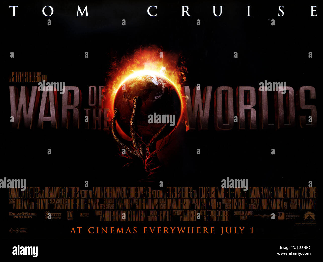 War Of The Worlds Poster Date 2005 Stock Photo 156929843 Alamy