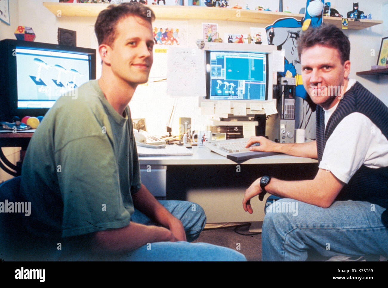 TOY STORY Unidentified computer animators     Date: 1995 - Stock Image
