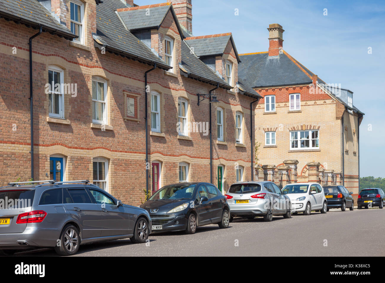 Poundbury, Dorchester, Dorset UK. A new urban development on land provided by the Duchy of Cornwall Stock Photo