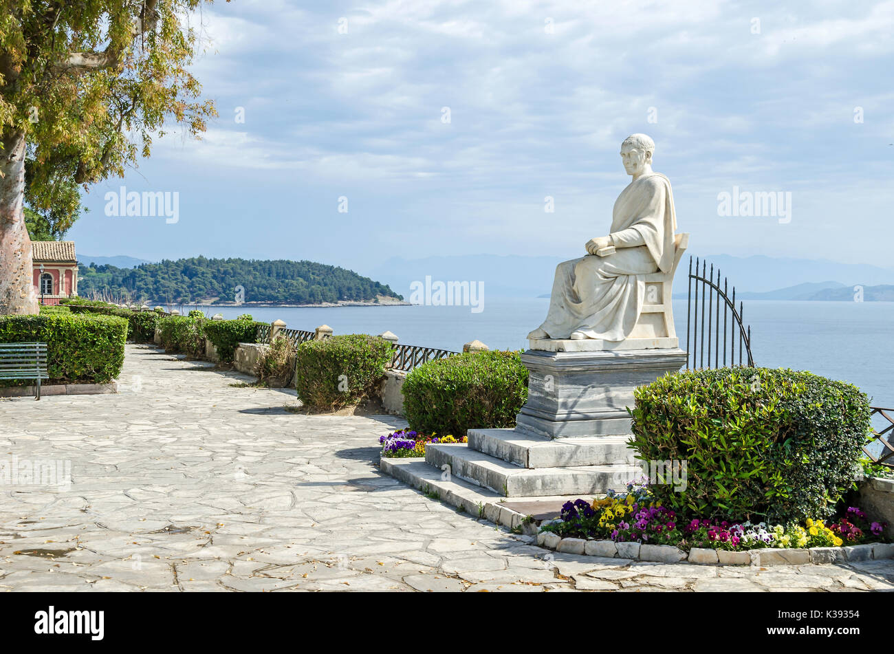 Statue of British High Commissioner Guilford in the Boschetto Park or Boschetto Garden in Corfu Town, Greece. - Stock Image