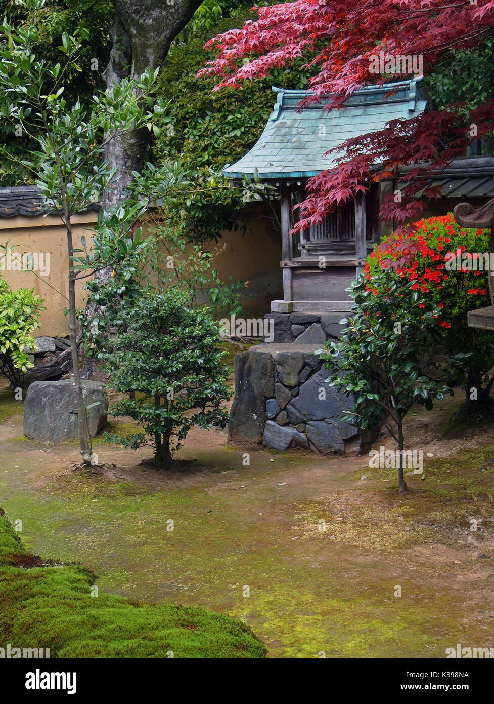 Ryokan. Traditional hotel in Kyoto. Tea time - Stock Image