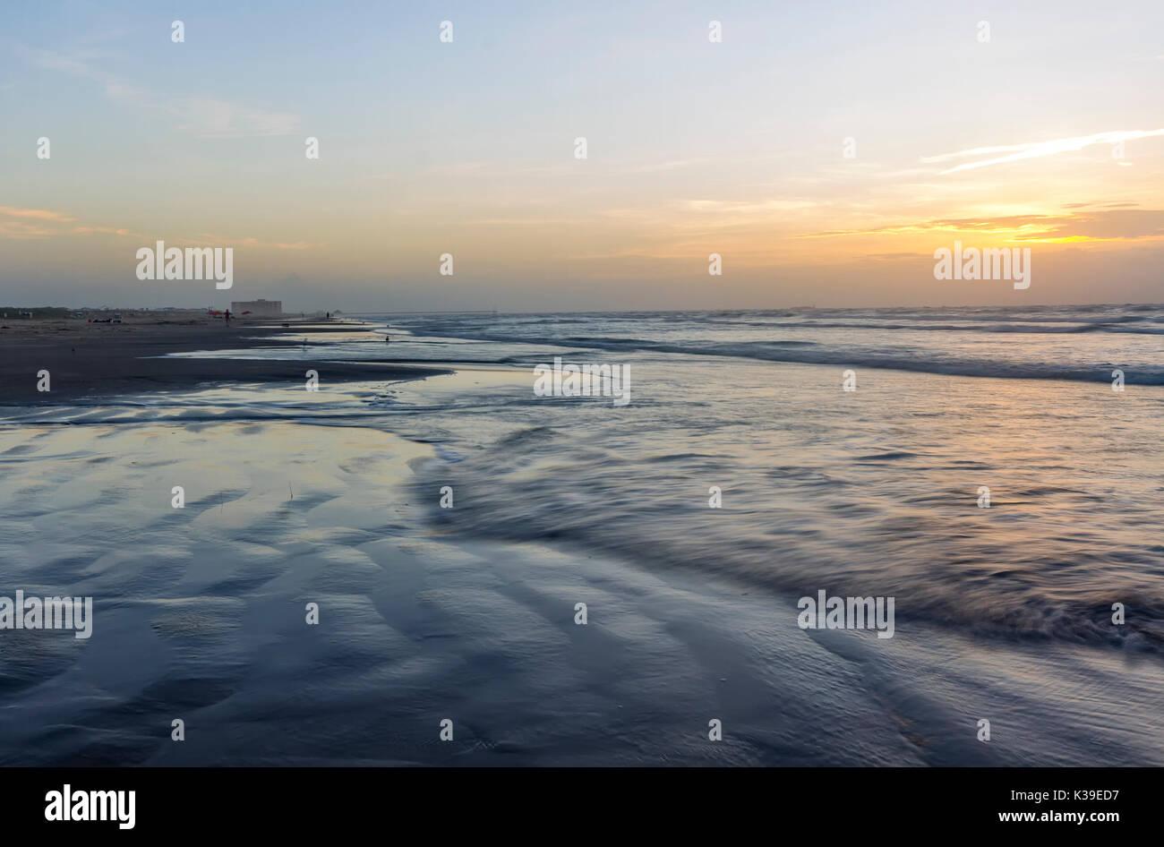 Port Aransas, Texas sunrise  on Mustang Island - Stock Image