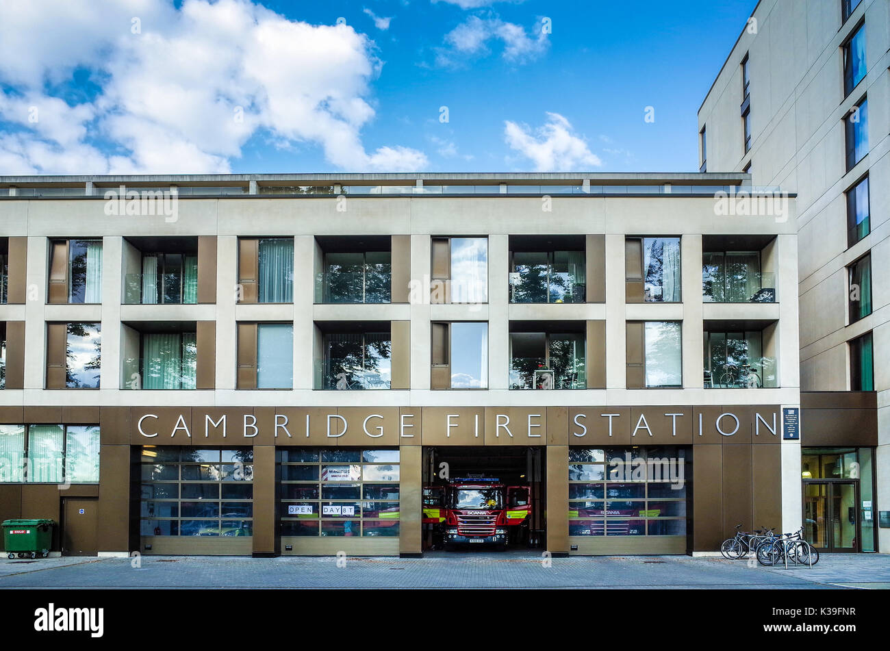 Cambridge Fire Station - Opened 2013 - redeveloped in partnership between the Fire Authority and urban developers Grosvenor. Architects Glenn Howells - Stock Image