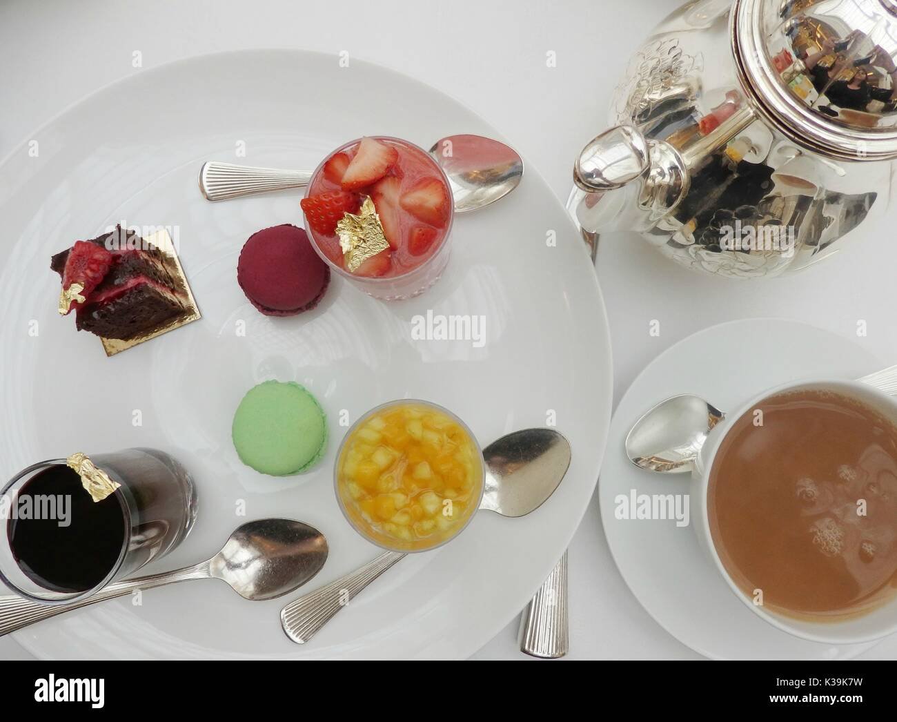 Afternoon Tea at The Lanesborough in Park Lane, London, England - Stock Image