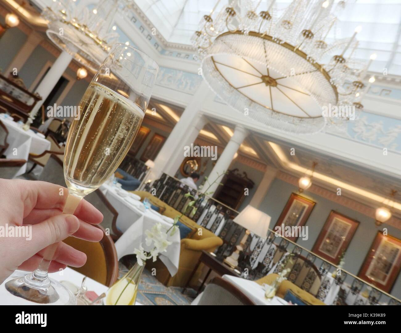 Afternoon Tea at The Lanesborough in Park Lane, London, England Stock Photo
