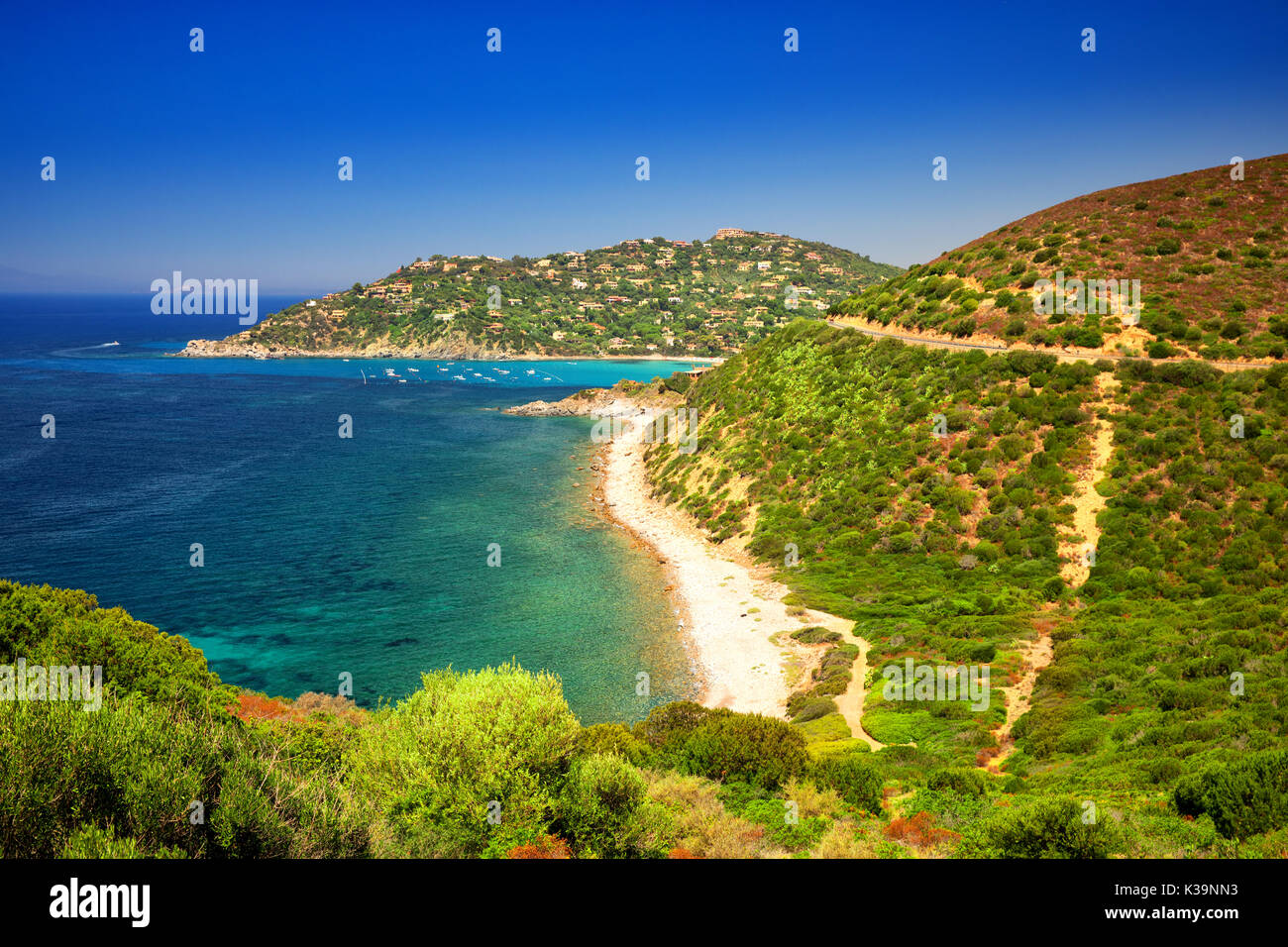 Second Largest Island In The Mediterranean Sea Stock Photos Second