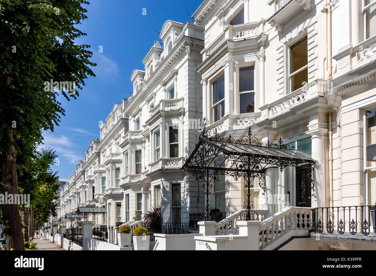 Expensive Property, Holland Park, London, UK - Stock Image