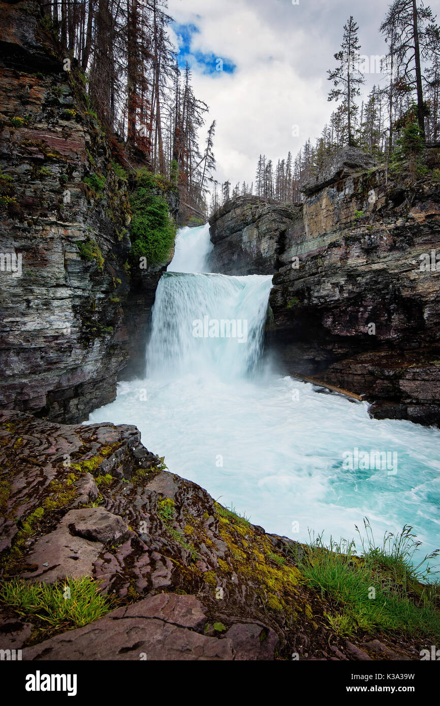 revendeur b14ca e8034 Lower Virginia Falls, Glacier National Park, Montana Stock ...