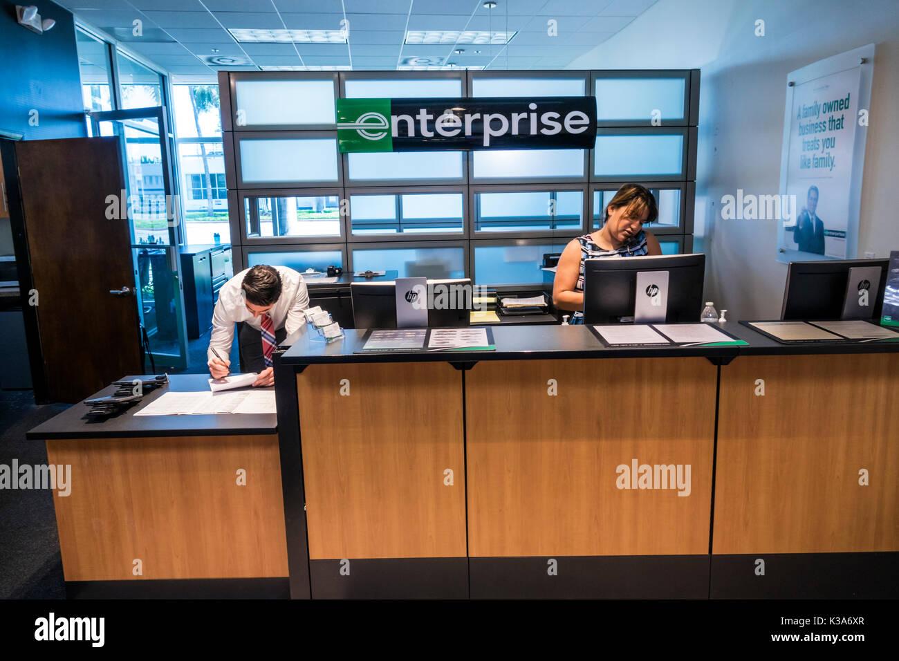 Miami Beach Florida Enterprise Car Rental Front Counter Desk Agent