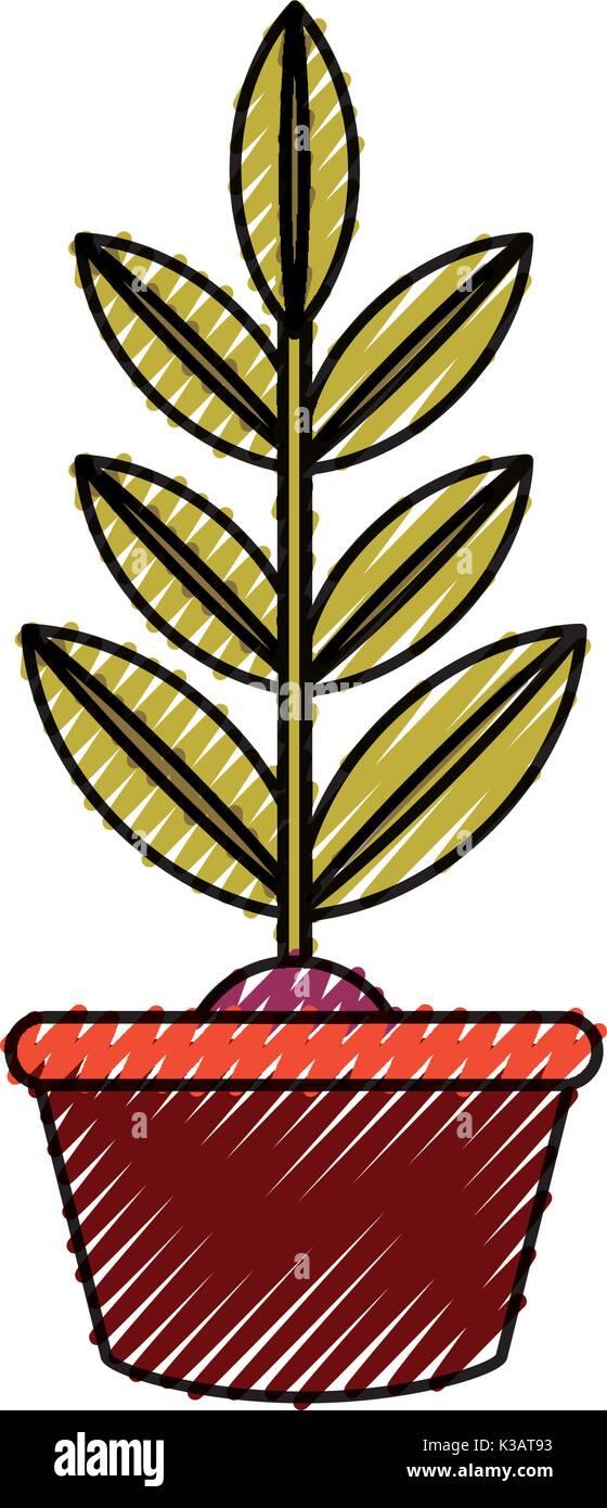 plant  vector illustration  - Stock Vector