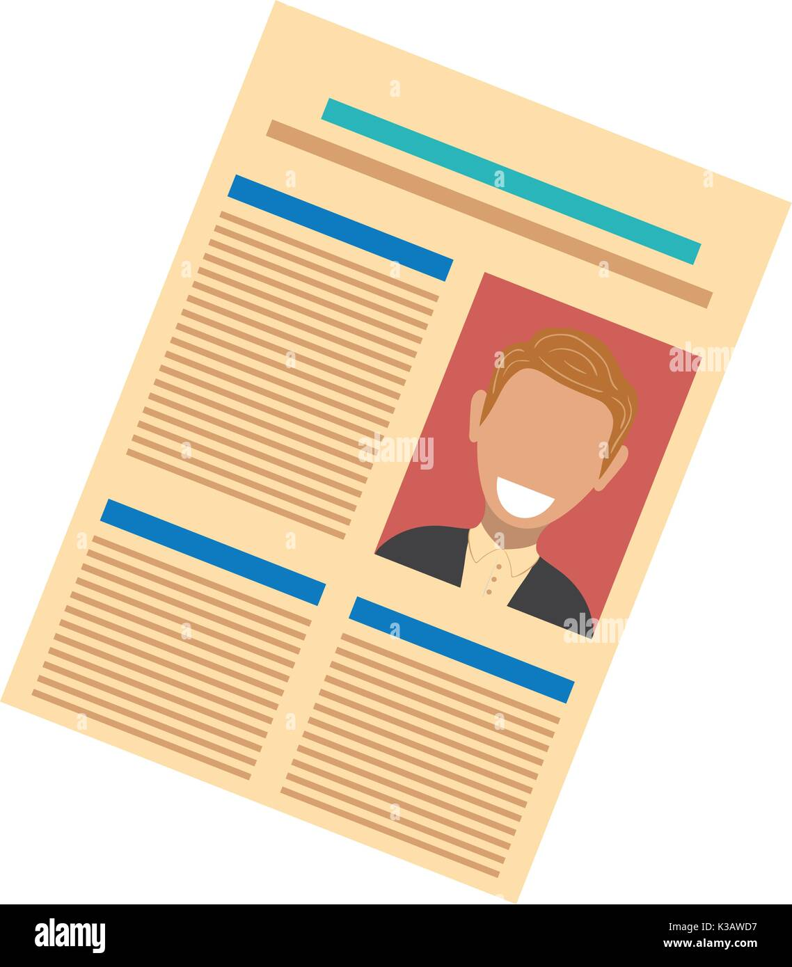 newspaper  vector illustration - Stock Image