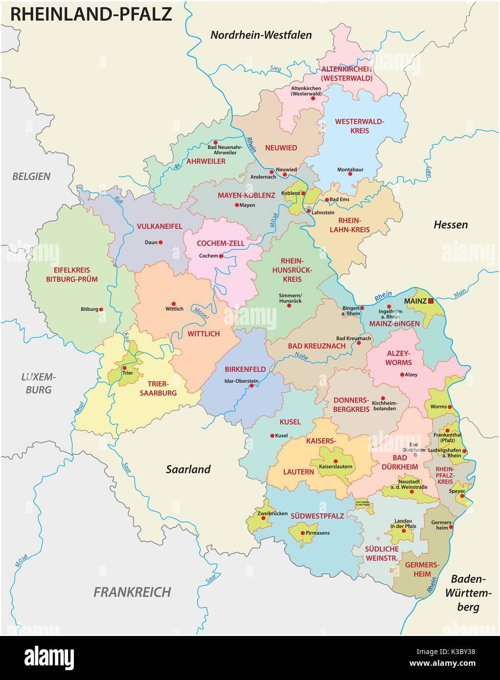 Bingen Germany Map.Map Rhineland Palatinate Stock Photos Map Rhineland Palatinate