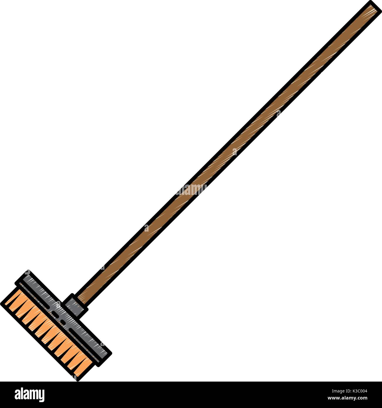 drying mop isolated icon - Stock Vector