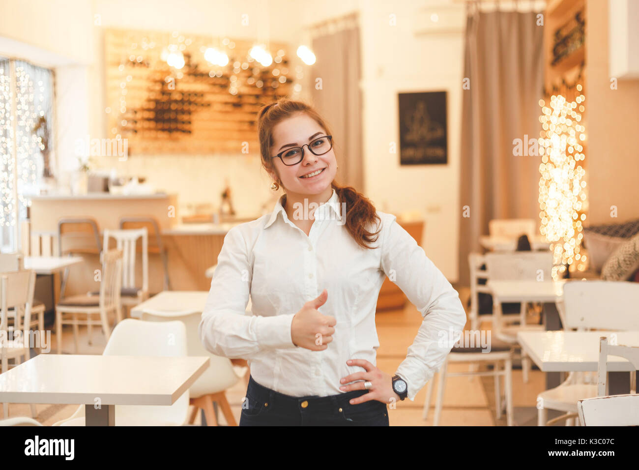 Successful Restaurant Manager Small Business Owner At Work