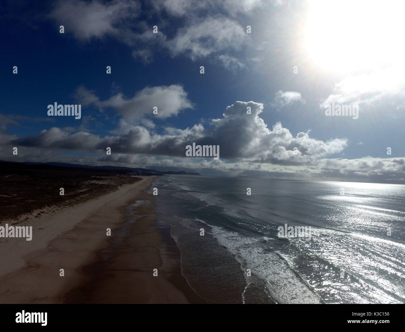 Aerial View Te Arai Point New Zealand - Stock Image