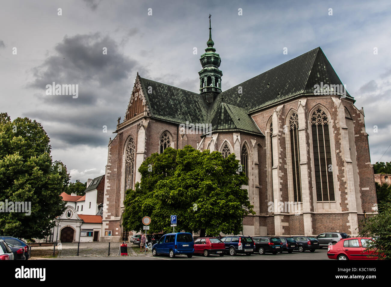 The Basilica of the Assumption of Our Lady, St. Thomas Abbey, Brno - Stock Image