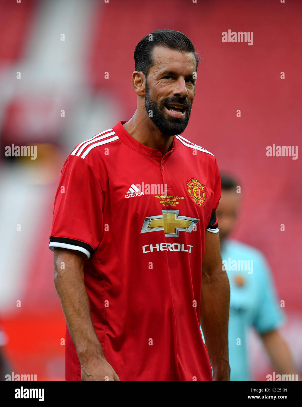 hot sale online 73e25 cf633 Manchester United's Ruud van Nistelrooy during the legends ...