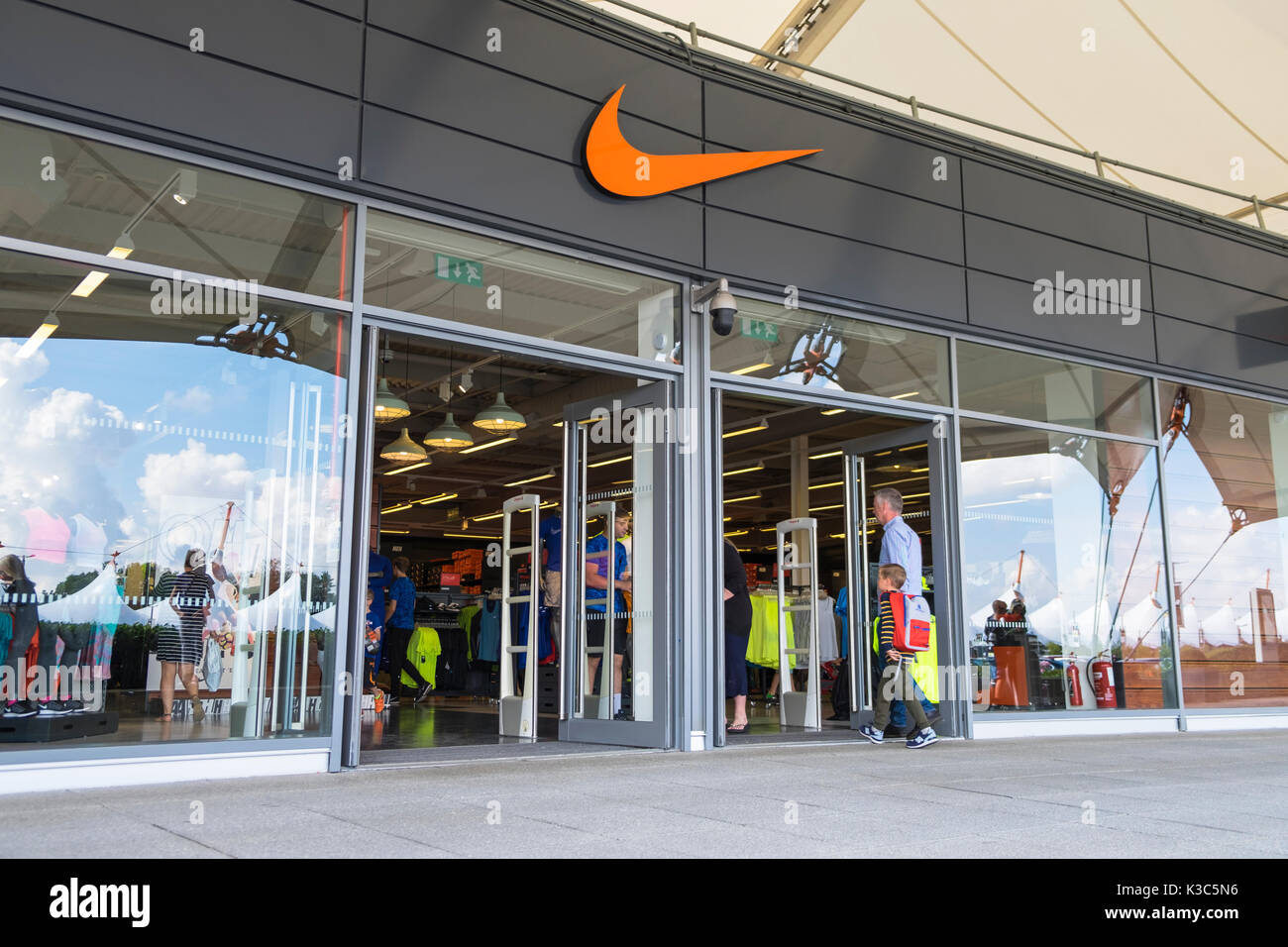 Nike store, outlet centre, ashford, uk